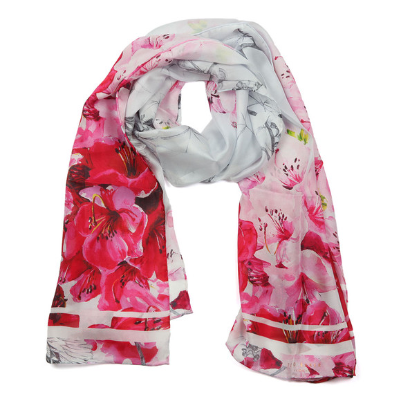 Ted Baker Womens Grey Caliii Babylon Long Scarf main image