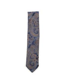 Eton Mens Blue Paisley Tie