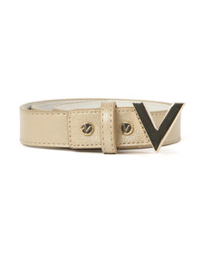 Valentino by Mario Womens Gold Marilyn Plaque Buckle Belt