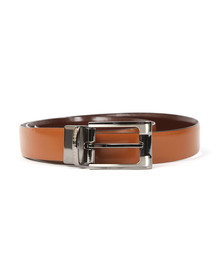 Ted Baker Mens Brown Smart Leather Reversible Belt