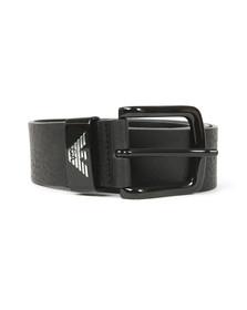 Emporio Armani Mens Black Logo Keeper Belt