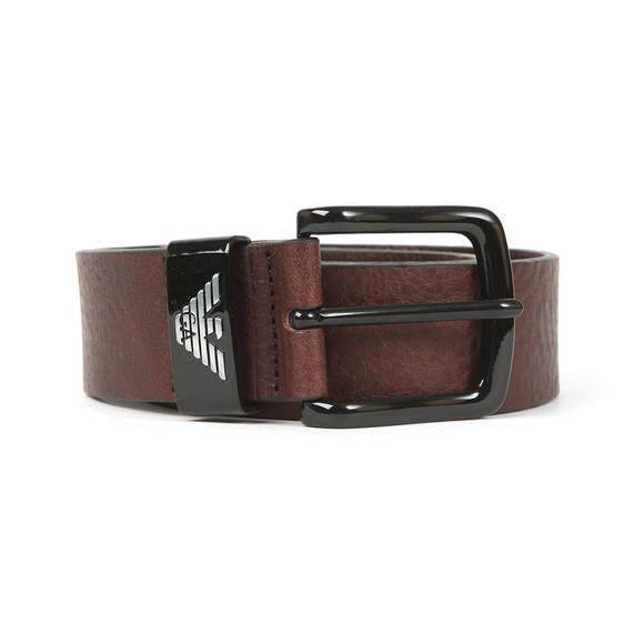 Emporio Armani Mens Brown Logo Keeper Belt main image