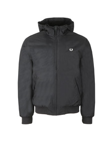 Fred Perry Mens Black Hooded Padded Brentham Jacket
