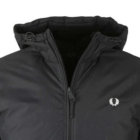 Fred Perry Mens Black Hooded Padded Brentham Jacket main image