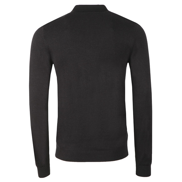 Fred Perry Mens Black Textured Front Knitted Polo Shirt main image