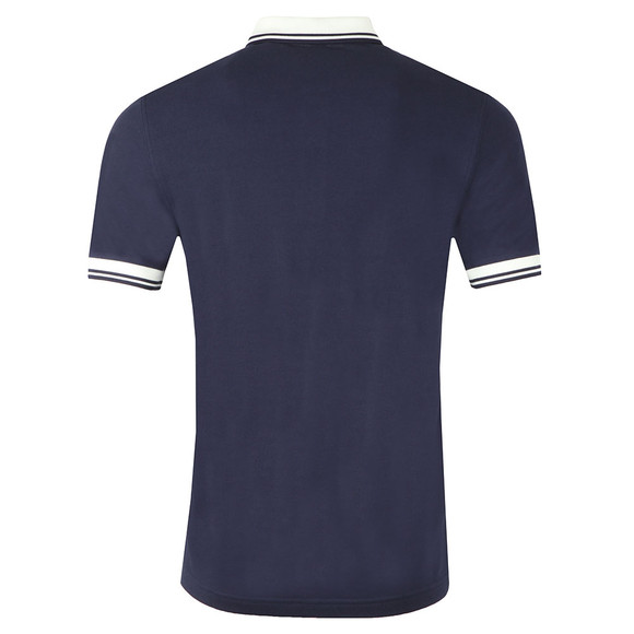 Fred Perry Mens Blue Contrast Rib Pique Polo Shirt main image