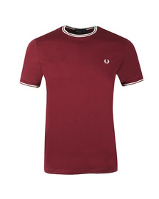 Fred Perry Mens Purple Twin Tipped T-shirt