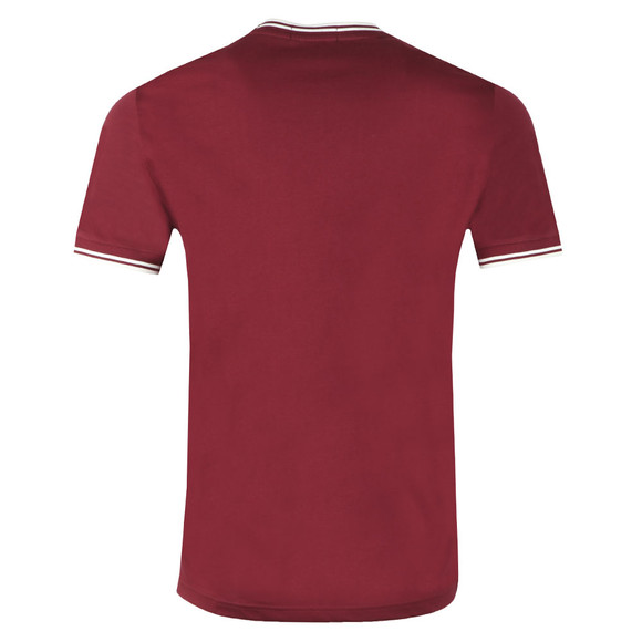 Fred Perry Mens Purple Twin Tipped T-shirt main image