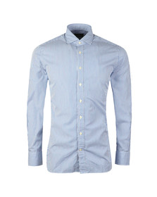 Hackett Mens Blue Skinny Bengal Stripe LS Shirt