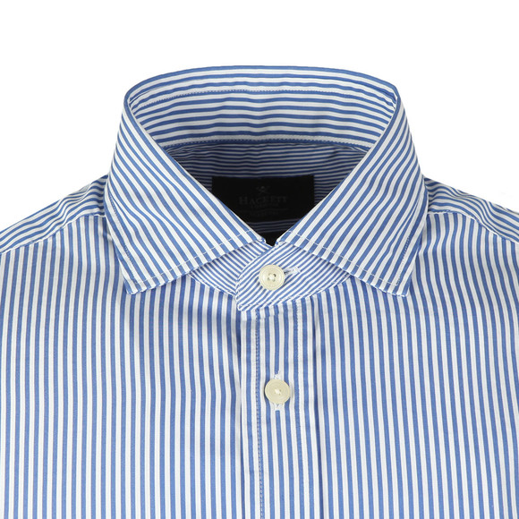 Hackett Mens Blue Skinny Bengal Stripe LS Shirt main image