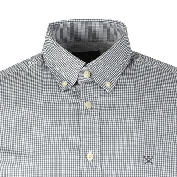 Hackett Mens Grey L/S Mini Check Shirt main image