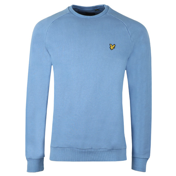 Lyle and Scott Mens Blue Washed Sweatshirt main image
