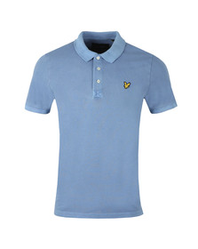 Lyle and Scott Mens Blue S/S Washed Polo
