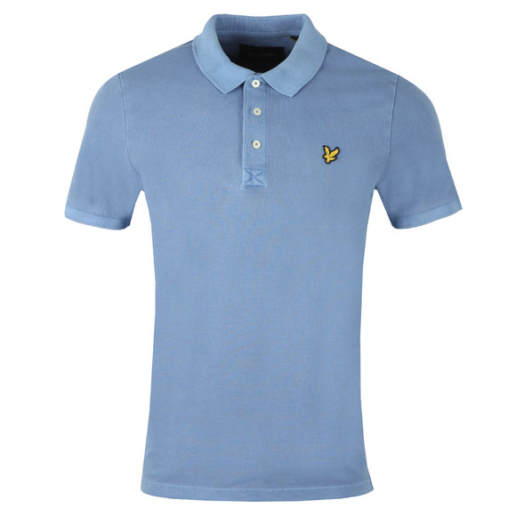 Lyle and Scott Mens Blue S/S Washed Polo main image