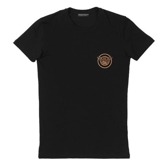 Emporio Armani Mens Black Circle Logo Underwear T Shirt