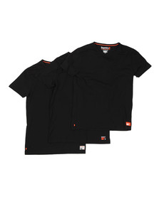 Superdry Mens Black Slim Tee Triple Pack