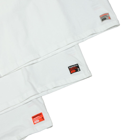 Superdry Mens White Slim Tee Triple Pack main image