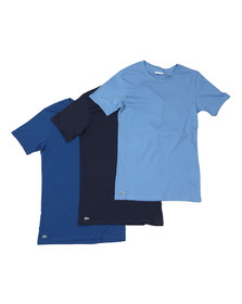 Lacoste Mens Blue 3 Pack T-shirts