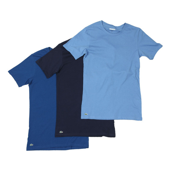 Lacoste Mens Blue 3 Pack T-shirts main image