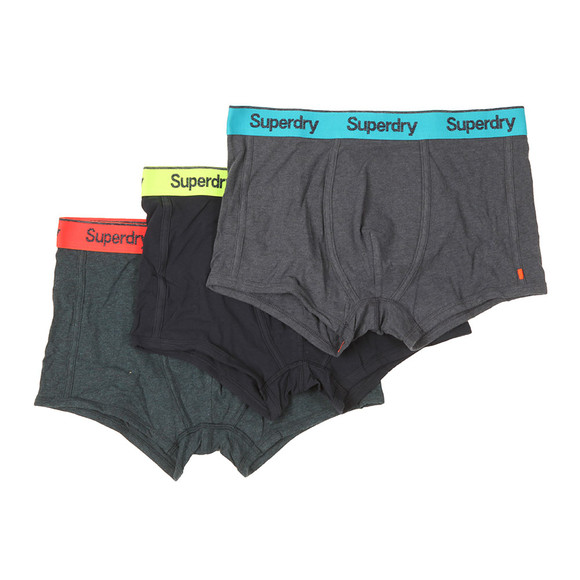 Superdry Mens Blue OL Triple Pack Sport Trunks main image