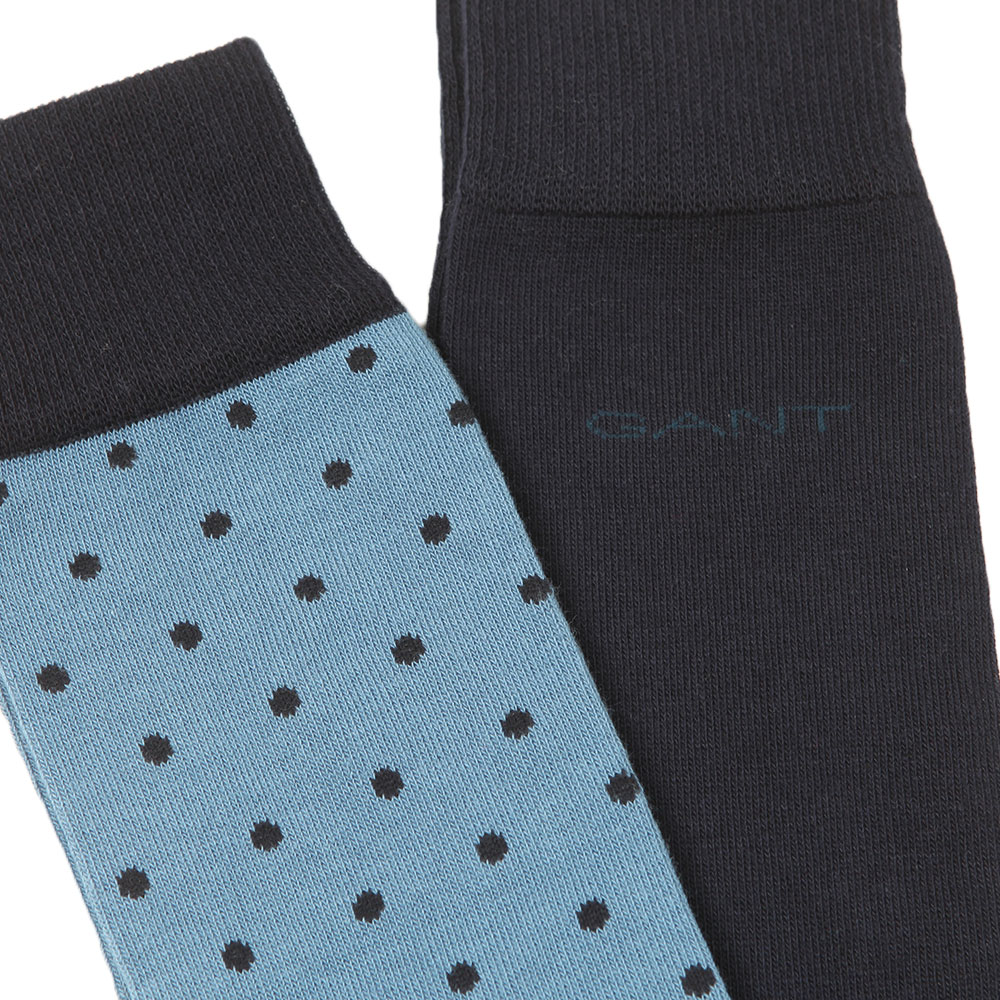 2 Pack Dot and Solid Socks main image