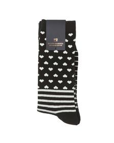 Scotch & Soda Mens Black Socks With Patterns