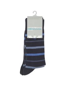 Emporio Armani Mens Blue 3 Pack Stretch Cotton Sock