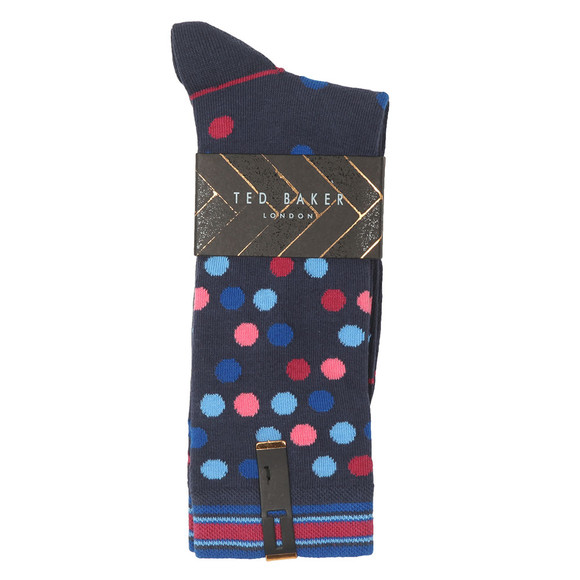 Ted Baker Mens Blue Spot Sock main image