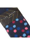 Ted Baker Mens Blue Spot Sock