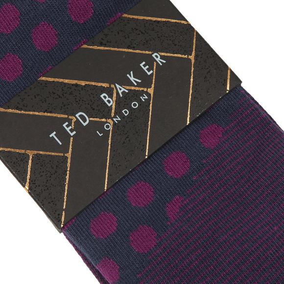Ted Baker Mens Blue Spot Print Sock main image