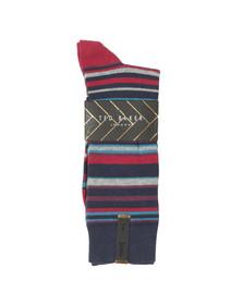 Ted Baker Mens Blue Stripe Sock