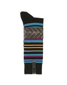Ted Baker Mens Black Stripe Sprint Sock