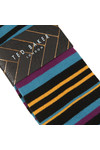 Ted Baker Mens Black Stripe Sprint Sock