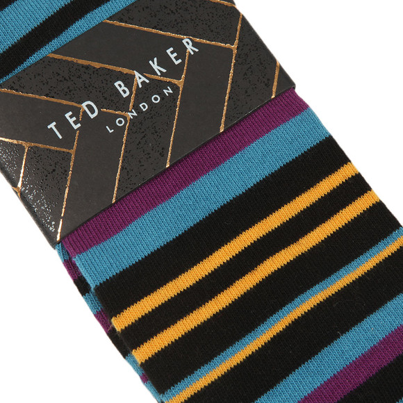 Ted Baker Mens Black Stripe Sprint Sock main image