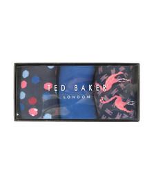 Ted Baker Mens Multicoloured TINSE 3 pack Sock Set