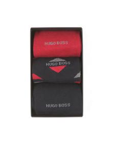 BOSS Bodywear Mens Black 3 Pack Sock Giftset