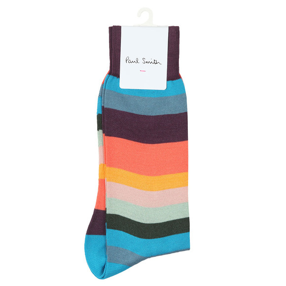 Paul Smith Mens Multicoloured Artist Stripe Sock
