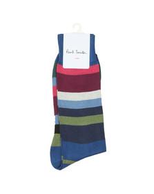 PS Paul Smith Mens Blue Lario Stripe Sock