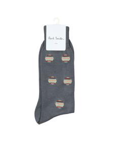 Paul Smith Mens Grey Multi Polka Dot Sock