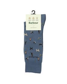 Barbour Lifestyle Mens Blue Mavin Dog Socks