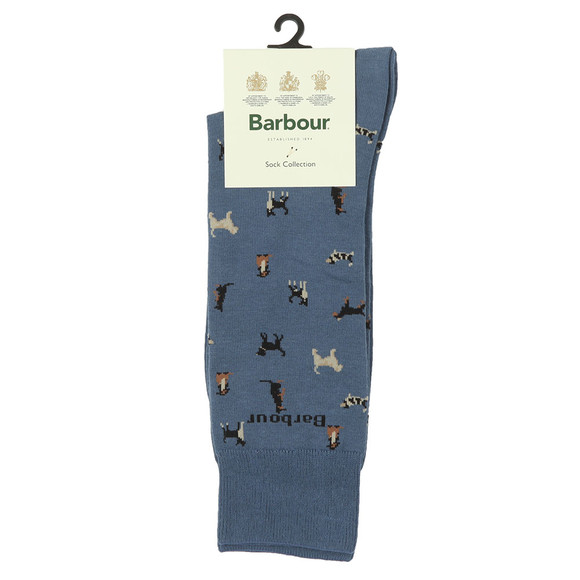 Barbour Lifestyle Mens Blue Mavin Dog Socks main image