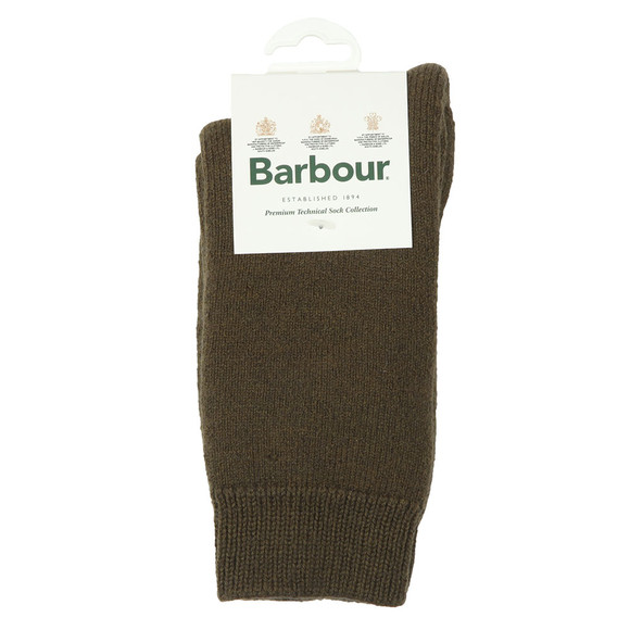 Barbour Lifestyle Mens Green Wellington Calf Sock main image