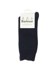 Barbour Lifestyle Mens Blue Wellington Calf Sock