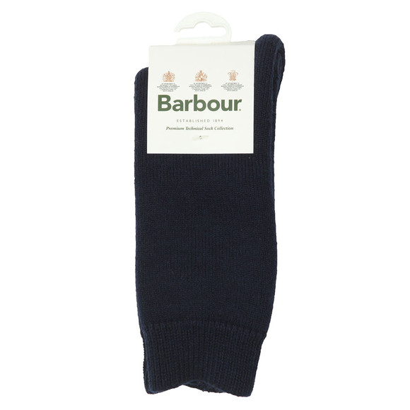 Barbour Lifestyle Mens Blue Wellington Calf Sock main image