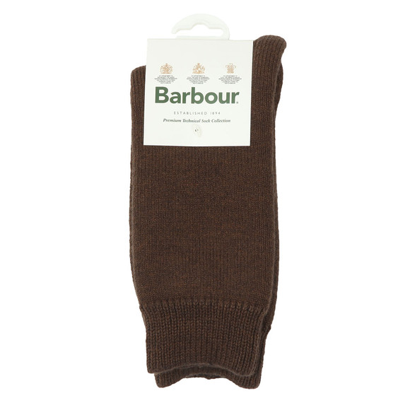 Barbour Lifestyle Mens Brown Wellington Calf Sock main image