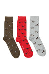 Barbour Lifestyle Mens Multicoloured Animal Mix Sock Box