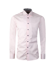Eton Mens Pink Floral Detail Striped Shirt