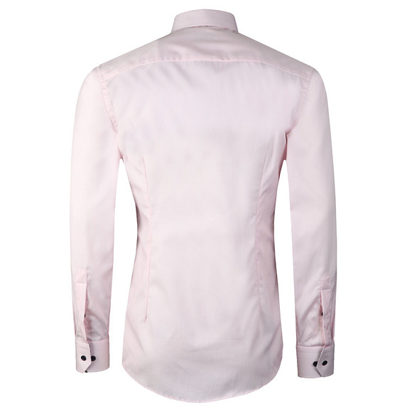 Eton Mens Pink Floral Detail Striped Shirt main image