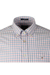 Gant Mens Pink Oxford 3 Col Gingham LS Shirt