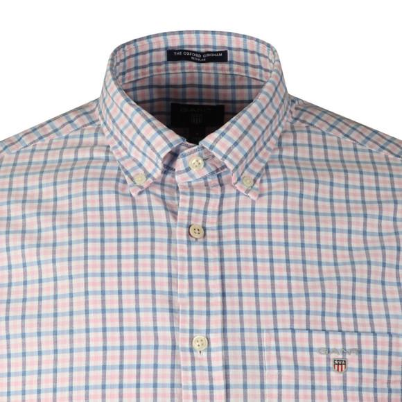 Gant Mens Pink Oxford 3 Col Gingham LS Shirt main image